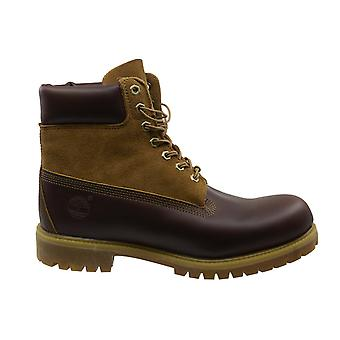 تيمبرلاند FG 6 بوصة قسط براون الجلود الدانتيل حتى أحذية الرجال A13CQ