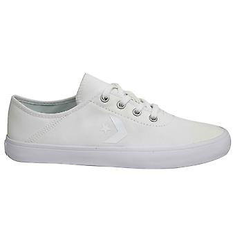Converse Costa Ox Textile Blanc Low Lace Up Womens Trainers 563435C