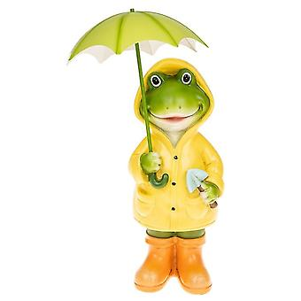 Puddle Frog Standing Girl Large Ornament
