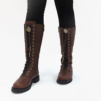 Harley Davidson Walfield Ladies Leather Tall Boots Rust