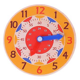 Early Preschool Teaching Aids Montessori Wooden Clock