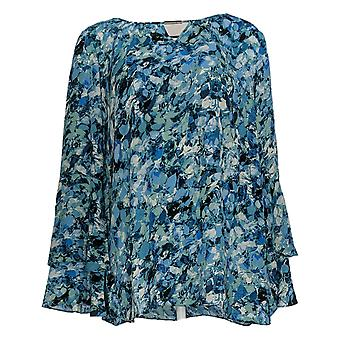 Belle By Kim Gravel Mujeres's Top Woven Blouse Azul A296596