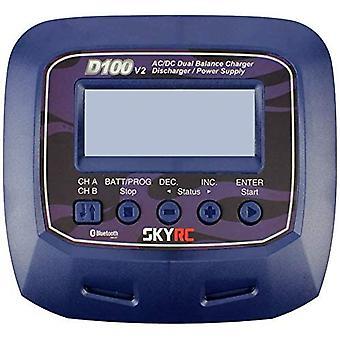Skyrc d100 v2 ac/dc podwójny balanser / plug eu dla lipo / life / liion / lihv / nimh / nicd / pb baterii