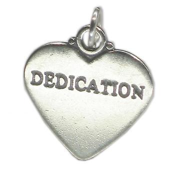 Dedizione Sterling Argento Charm Ciondolo .925 X 1 Determinazione Charms - 1868