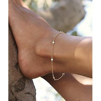 Cubic Zirconia Woman Anklets, Casual/sporty, Sterling Sillver, Bracelet Jewelry