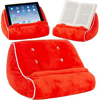 Book Couch iPad Tablet Holder Novelty eReader Rest Sofa Pillow Stand Gift Idea (Red)