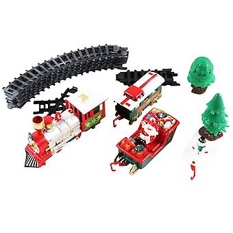 אורות וצלילים חג המולד רכבת להגדיר פסי רכבת (לבן)