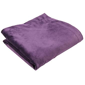 Matt aubergine purple velvet bedding set