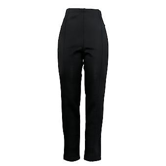 Nina Leonard Leggings Knit Pull-On Dark Navy Blue 641-697
