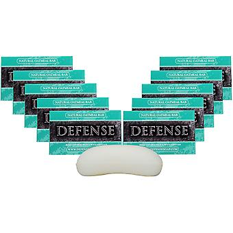 Defense Soap 4 oz. Antimicrobial Therapeutic Bar Soap - 10 Pack - Oatmeal