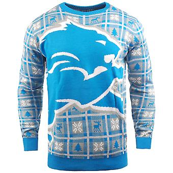 NFL Ugly Sweater XMAS Knit Sweater - Detroit Lions