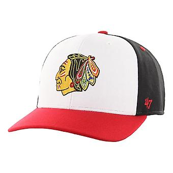 47 NHL شيكاغو بلاك هوكس المنطقة الباردة MVP DP كاب - أسود