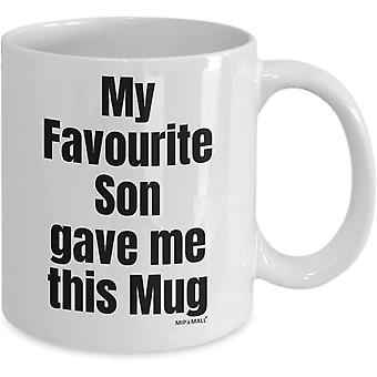 Gifts for Mum and dad - My Favourite Son gave me This Mug, Fathers Day, Christmas Present - wm3903