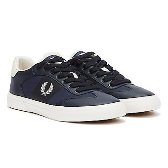 Fred Perry Clay Leather Mens Navy / Snow White Trainers