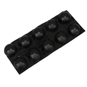 10Pcs 18x10mm Black Isolation Feet Pads Hemisphere Bumper for Speaker