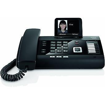 Wokex DL500A - schnurgebundenes DECT Telefon mit Anrufbeantworter - Büro und Haustelefon mit großem