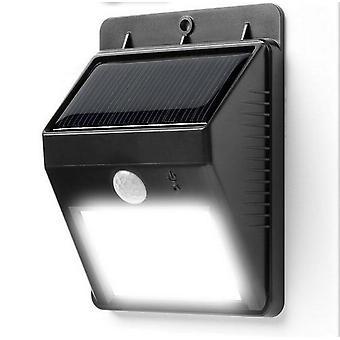 utendørs ledet trådløs solcelledrevet bevegelsessensor lys sikkerhetslampe