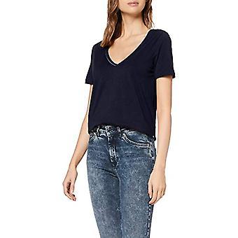 Scotch & Soda V-Neck Tee with Piping Detail T-Shirt, Blue (Navy 0004), Medium Woman