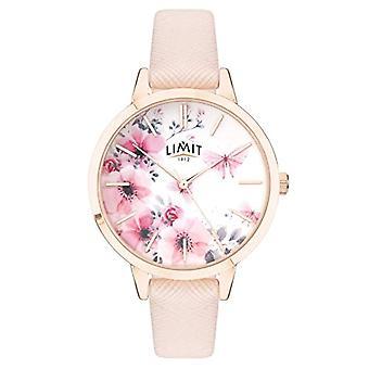 Limit Secret Garden Damenuhr rosa &weiß Blumen Zifferblatt Armband rosa 60023