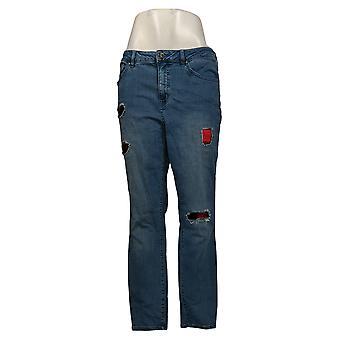 Belle By Kim Gravel Jeans TripleLuxe Denim Xadrez Azul A388522