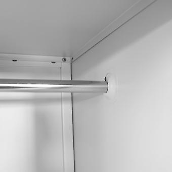 vidaXL locker met 2 vakken 38 x 45 x 180 cm