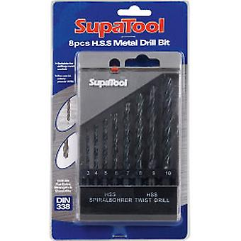 SupaTool HSS Kovový vrták Sada 8 kusov