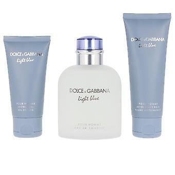 Ensemble parfum pour hommes Bleu clair Dolce &Gabbana EDT (3 pcs)