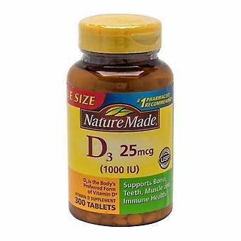 Nature Made Vitamin D3, 1000IU, 300 Tabs