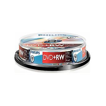 Philips DVD+RW 4X 10PK vreteno