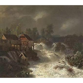 Wasserfälle von Trollhättan,Andreas Achenbach