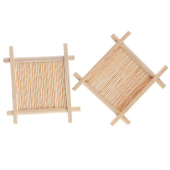 Luonnollinen bambu saippuateline