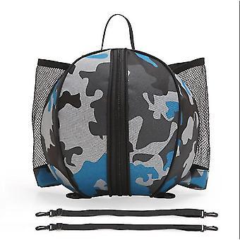 Sportausrüstung Tasche für Basketball Fußball Volleyball Outdoor Schule 9l (Blau)