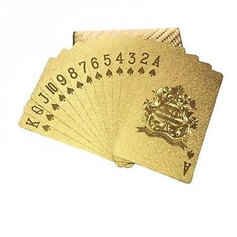 Cool Black Foil Poker Playing Cards, Waterproof Deck Of Cards