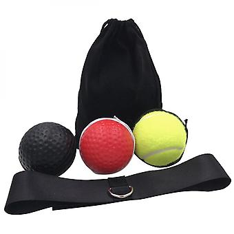 2types Boxing Fight Ball Reflex Boxing Reflex Speed Ball With Headband Mma Muay Thai Hand Eye Reaction Training Punch Fight Ball Exercise Equipment Ac
