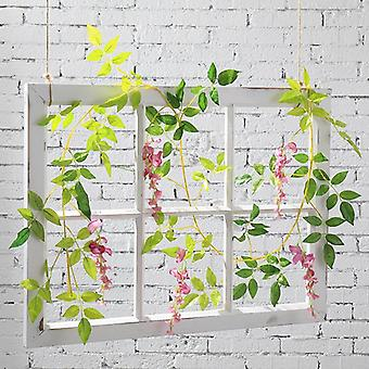 Wisteria vine artificial flowers silk garland arch plant decoration home garden decoration hanging plant wall decorations