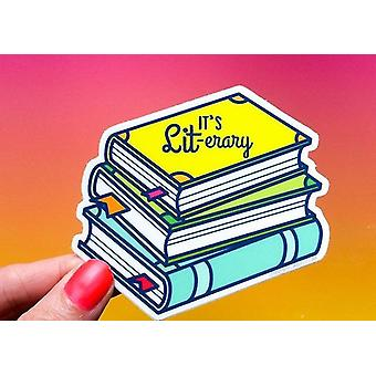 It''s Lit Erary-vinyl Sticker
