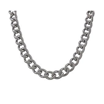 24 Inch Stainless Steel Curb Link Necklace 3/8 Inch Wide