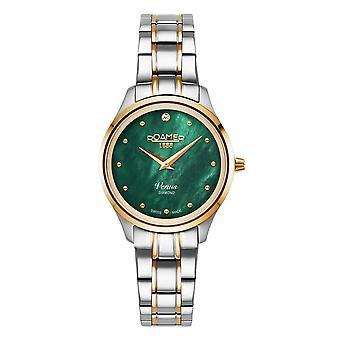 Roamer 601857 47 59 20 Women's Venus Diamond Two Tone Steel Bracelet Wristwatch