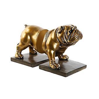 Bookend DKD Home Decor Bulldog Resin (2 pcs) (11 x 12 x 14 cm) (11 x 12 x 15 cm)