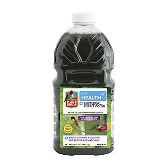 More Birds Health Plus Ready To Use Oriole and Hummingbird Nectar Natural Purple - 64 oz
