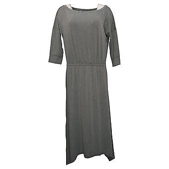 Brittany Humble Dress B.E. Ready Dolman 3/4 Sleeve Midi Gray 753827