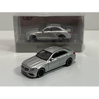 Minichamps 870038101 2017 Mercedes AMG C63 Sølv 1:87 Skala