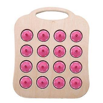 Деревянные блоки 1сет тренировка памяти головоломка деревянное качество безопасность дети раннее образование игрушка|блоки розовый