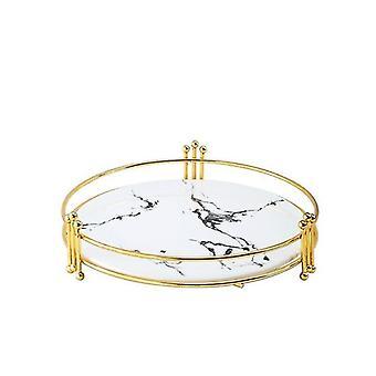 Plateaux de rangement en marbre miroir de style scandinave (Large-c)