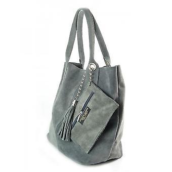 Vera Pelle Zamsz XL A4 Shopper Bag W567G everyday  women handbags