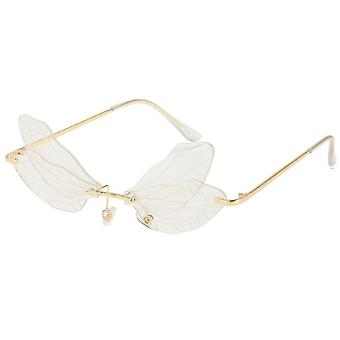 Dragonfly Wings Solglasögon Kvinnliga Gradient Färg Solglasögon