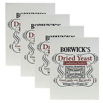 4 x 5 sachets Borwicks Levure séchée Pain Roll Gâteau Cuisson Pâte Agent Levant