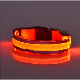 Lichtgevende halsband, led knipperende veiligheidshalsband met verstelbare riem, geschikt voor kleine, middelgrote, grote honden