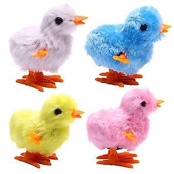 4pcs Cute Peluche Wind Up Chicken Novelty Jumping Chicken