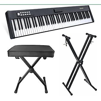 88-key Electric Piano Keyboard Supporting Piano Stand